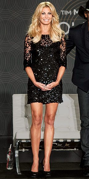 Black, sparkly, AND lacey. I like. | Faith Hill.