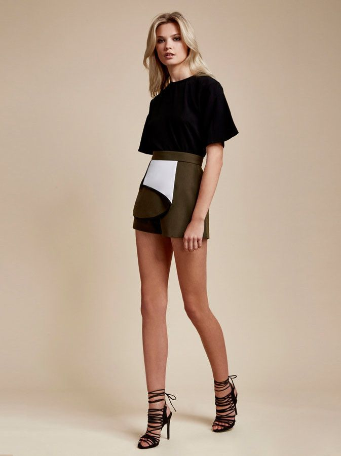 Finders Keepers - Get Away Short - Khaki Spliced - $139.90