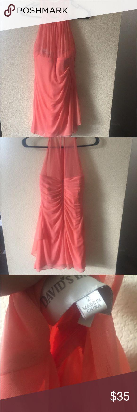David bridal dress size 2 David's bridal coral dress size 2 worn once davids bridal Dresses