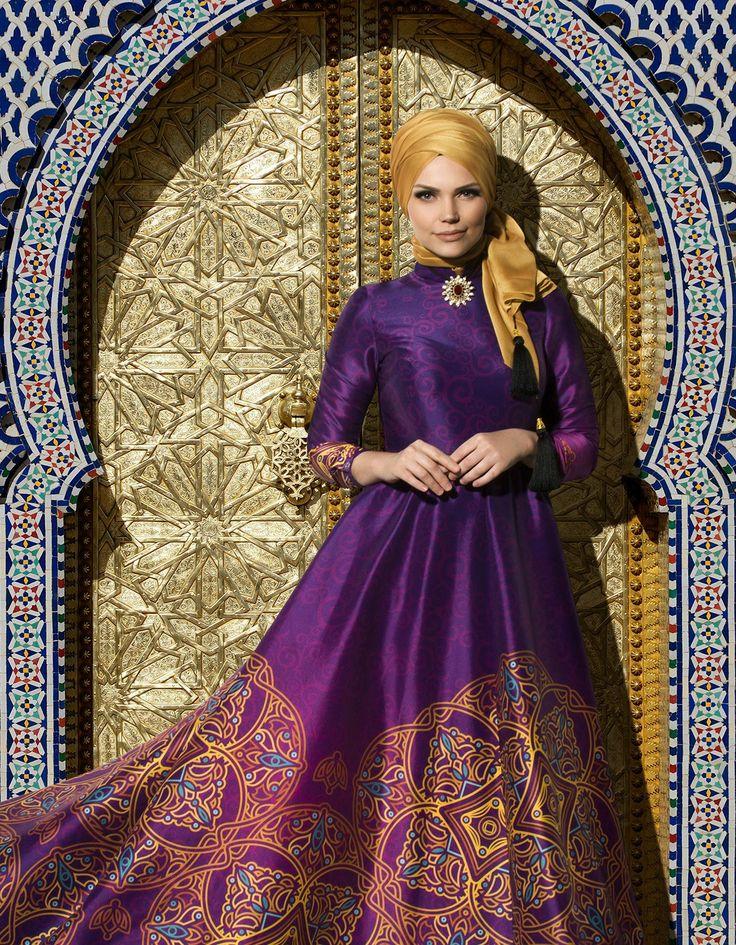 Muslima Wear Silk Way Collection- Violette Dress