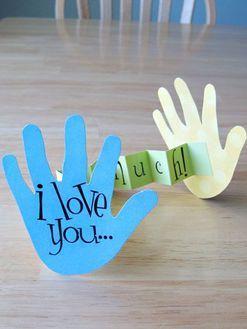 21 Moederdag Knutselen voor kinderen |  Ik hou van jou ... Dit Much, Card |  Makkelijk Crafts voor kleuters