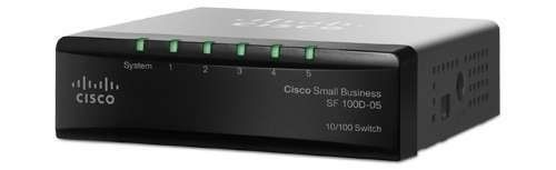 CISCO SYSTEMS SF100D-05-NA 5 Port 10/100 Desktop Switch by Cisco. Save 26 Off!. $25.94. Cisco 100 Series Switches deliver powerful network performance and flexibility for small business networks, without the complexity. With no installation software and nothing to configure, you get an affordable, reliable network that just works, right out of the box.