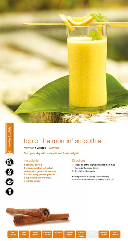 Fuel your brain and try our Top O' the Mornin' Smoothie using the Ninja Ultima!