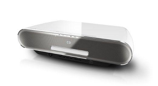 Panasonic SC-ALL7CDEGW HiFi System (40 Watt RMS, Streaming, Qualcomm AllPlay, WiFi, Bluetooth, CD, Radio UKW/DAB+, 4 GB Speicher) weiß
