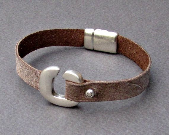 Leather Mens Bracelet  Boyfriend Gift  Mens Gift Gift by GUSFREE
