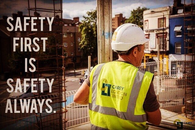 We are passionate about the safety record of our buildings and we put the same commitment into the safety of our workers.  Because safety matters, always. http://careylondonltd.co.uk/
