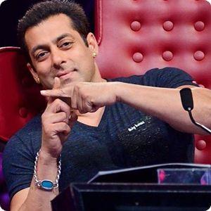Salman Khan in a Being Human V - Neck Melang Tee