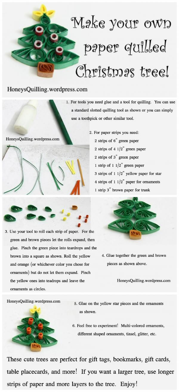 Quilled paper Christmas tree tutorial