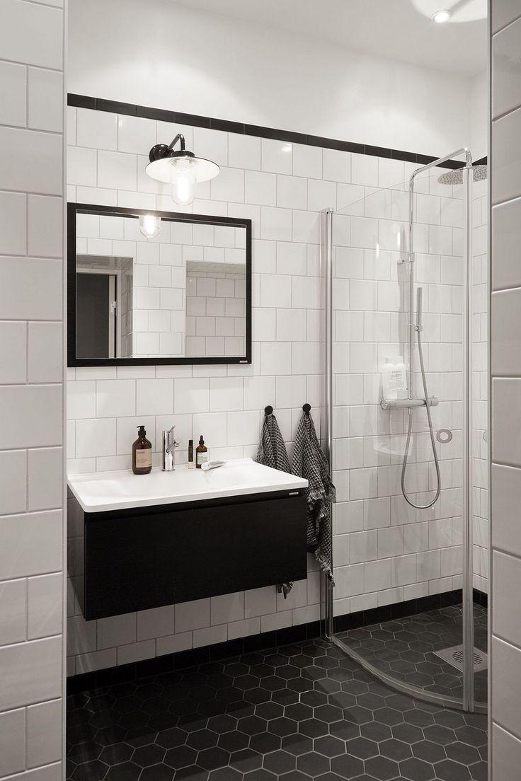 79 Gorgeous Black And White Subway Tiles Bathroom Design