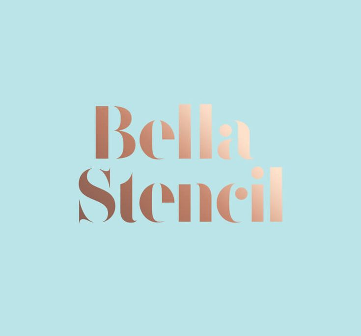 Free Bella Stencil Font Alternatives