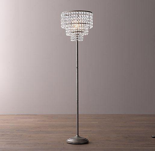 Soho Crystal Floor Lamp Crystal Floor Lamp Silver Floor