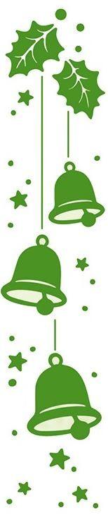 """Leane Creatif - LeaCrea Design Embossing Folder - Border Christmas Bells (1.25"""" x 5.75""""),$3.79"""