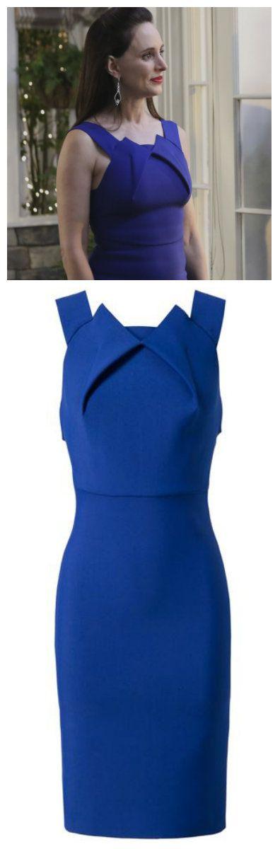 Revenge - Serie TV - look - style - estilo - inspiration - inspiração - moda - fashion - dress - vestido - blue - azul - Roland Mouret - elegante - elegant - Victoria Grayson (Madeleine Stowe)