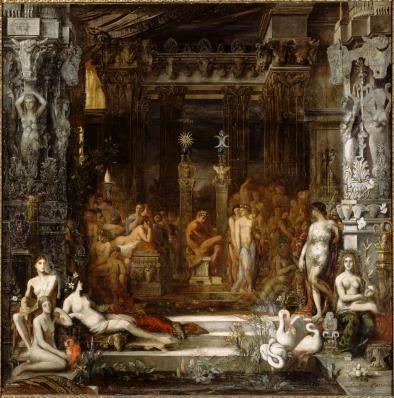 """""""Hercule et les Filles de Thespius"""" de Gustave Moreau, Paris, Musée Gustave Moreau"""