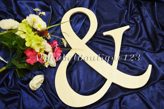 "8"" Wooden Ampersand Sign Photography UNPAINTED-DIY-Wedding Decor-Engagement- Photography prop"