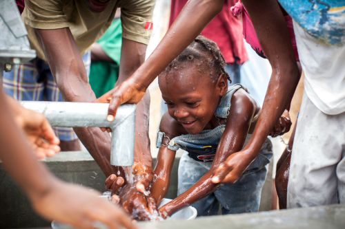 hand in hand's first-ever well celebration in haiti #cleanwater