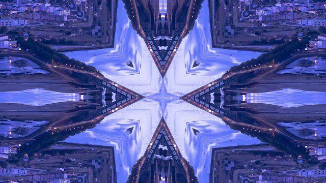 Follow us:facebook.com/HDMsacapes  Pegamos em Timelapse e Hyperlapse da nossa cidade e aplicamos o Kaleidoscope num jogo de mirrors e flipes horizontais e verticais. O resultado foi este... a diversidade de formas nos monumentos e os movimentos de trânsito cruzados em diversos sentidos, resulta numa visão diferente e em alguns casos proporciona simetrias deslumbrantes. Este é mais um teste da HDM baseado no trabalho desenvolvido pelo Michael Shainblum sobre as principais cidades dos EUA ...