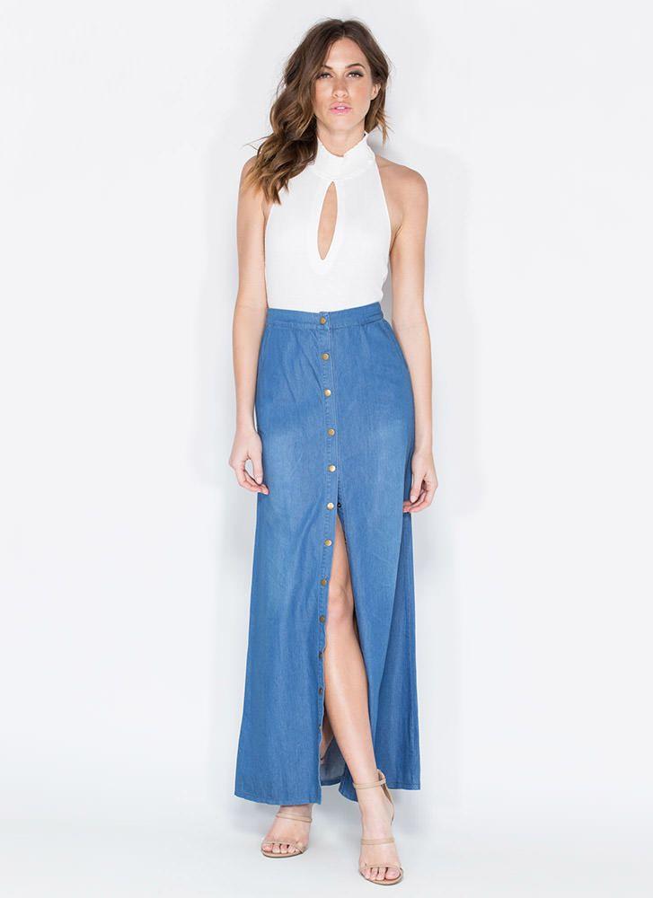 faldas de jeans largas - Buscar con Google
