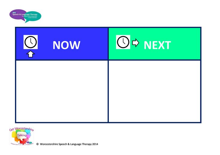 Now and Next board to support understanding and behaviour in the classroom