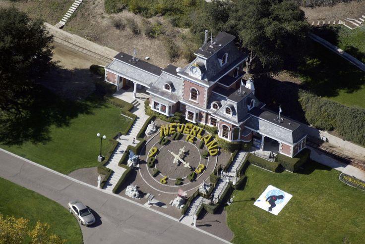 Foto aérea del rancho Neverland.