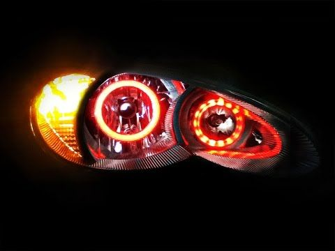 2006 to 2010 Chrysler PT Cruiser Color Changing LED HALO Headlights - YouTube