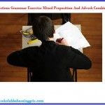 30 Questions Grammar Exercise Mixed Preposition And Adverb Combinations