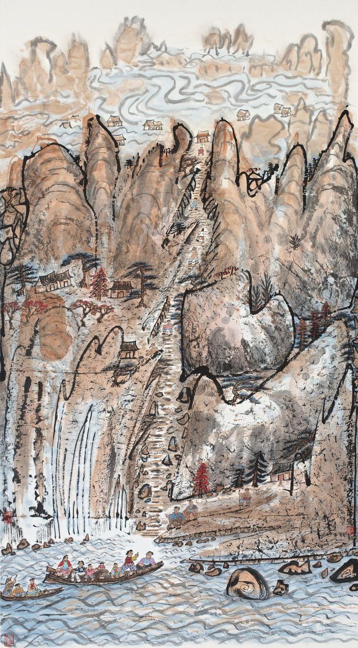 fang, zhaolin nature's grandeur | painting | sotheby's hk0491lot72p6men