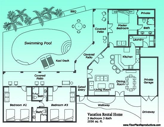 11 best images about vacation rental marketing floor plans for Vacation floor plans