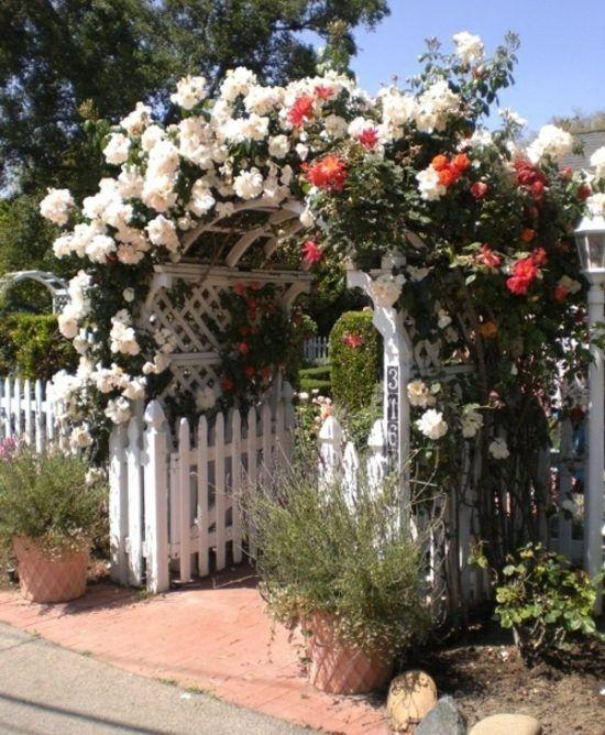 Die 25+ Besten Ideen Zu Gartenzaun Weiß Auf Pinterest   Sauberer ... Gartenzaun Mit Pergola Landhausstil