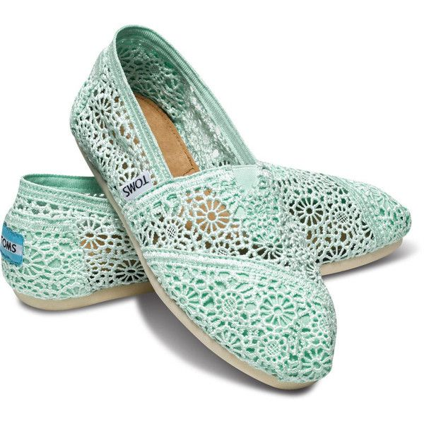 Women's Shoes: Flats, Wedges, Slip-Ons, Boots | TOMS.com | TOMS.com ($59) ❤ liked on Polyvore featuring shoes, flats, toms, crochet shoes, floral flat shoes, flat shoes, floral print flats and flat pumps