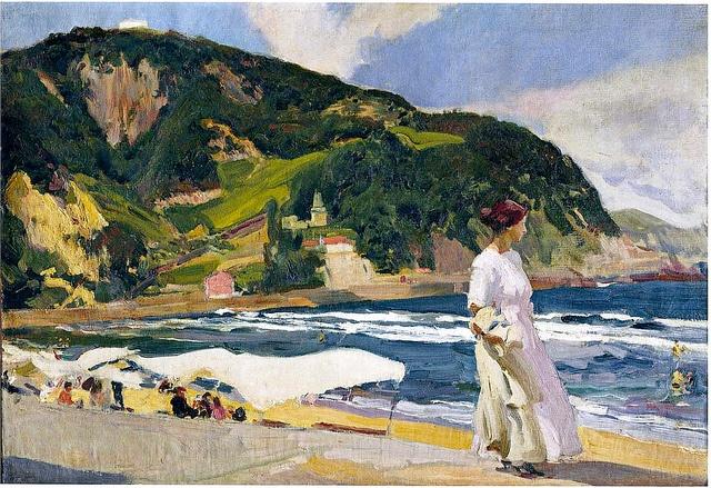 Maria on the beach, Zarauz Joaquin Sorolla y Bastida - 1910