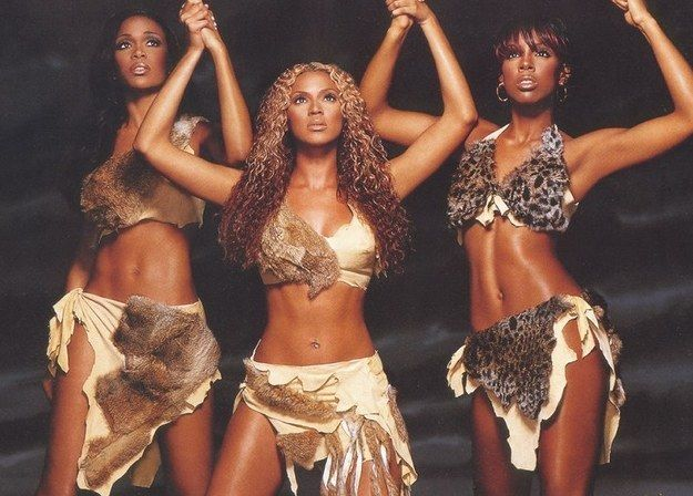 The time they went for caveman chic. | 31 Times Destiny's Child Proved They Were The Best Thing That Ever Happened In The Early '00s