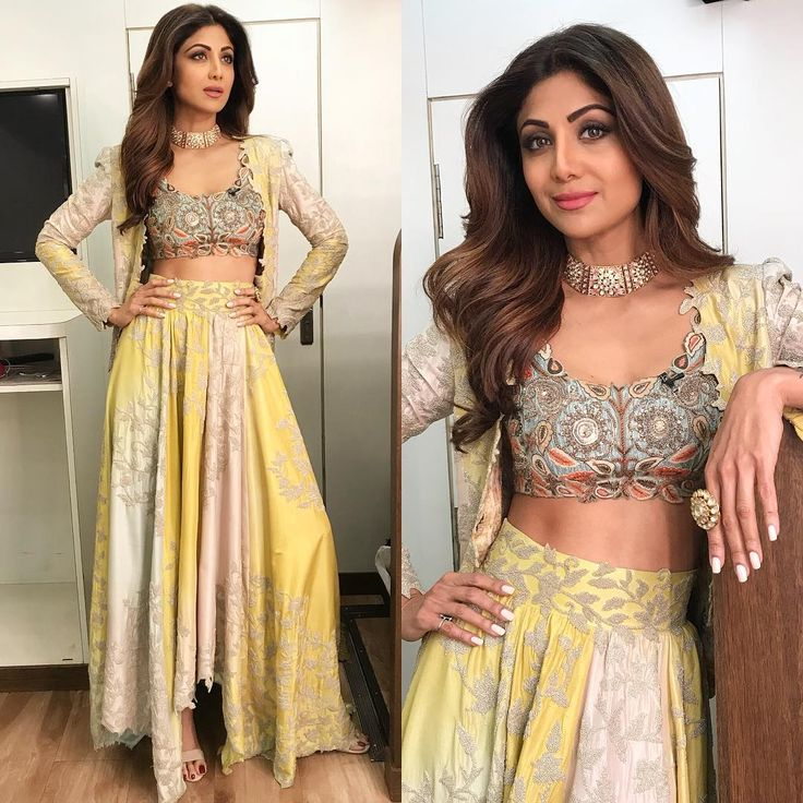 "16.8k Likes, 131 Comments - Shilpa Shetty Kundra (@theshilpashetty) on Instagram: ""Wearing this stunning @anamikakhanna.in outfit and @jaipurgems jewels for #SuperDancer today.…"""