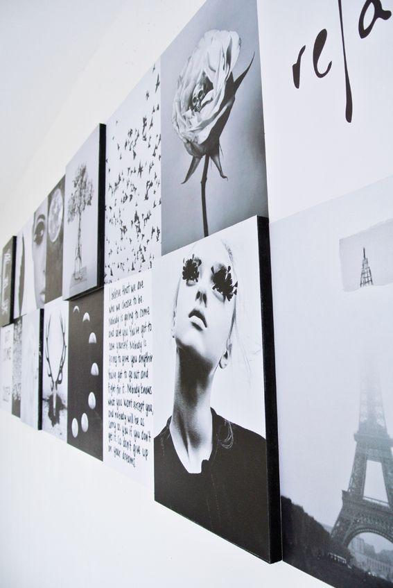 Graphic bedroom wall by Marij Hessel