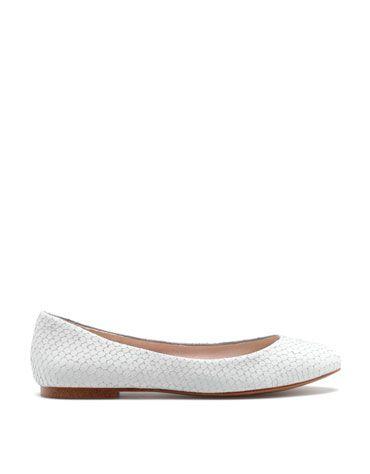 Bershka Hungary - Bershka fish scale ballerina shoes