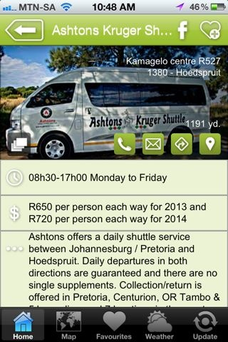 """Ashton's Couriers is a hAPPy business - a """"Travel & Transport"""" listing on the Hoedspruit Info App"""