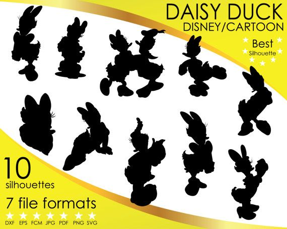 Hey, I found this really awesome Etsy listing at https://www.etsy.com/listing/501585766/10-silhouettes-daisy-duck-donald-disney
