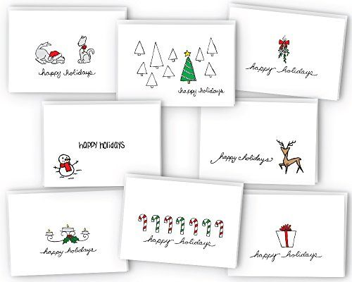 Spread Some SmilesSugartown Greetings Happy Holidays Greeting Card / Gift Tag Collection gives you the style & variety you are looking for in a Holiday Card collection. These designs are great to use as greeting cards, note cards, or gift tags!   Quality Products with our Environment in Mind Our Happy Holiday Greeting Cards are printed on a linen-textured white cardstock (80lb Cover) that is 100% Recycled. The Holiday Cards are packaged flat so you can run them through your home inkjet o...