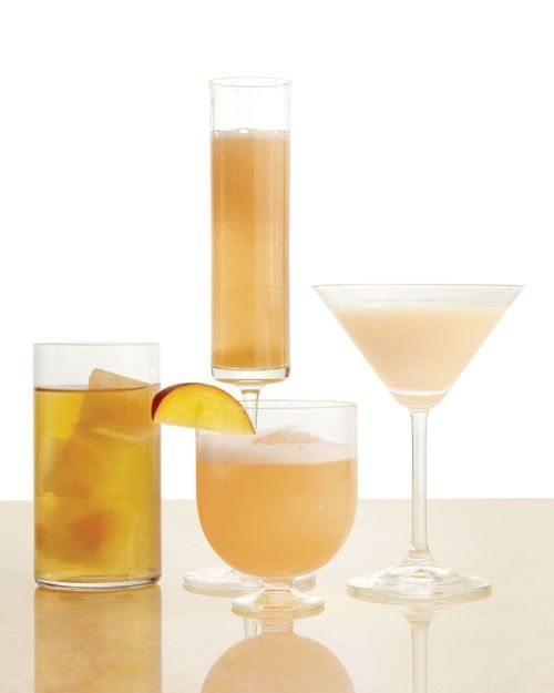 blends syrup made from simmered, sliced fruit with chilled white ...