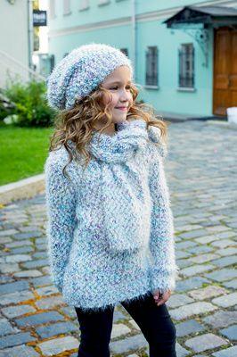 Шапка, шарф 86014б голубой