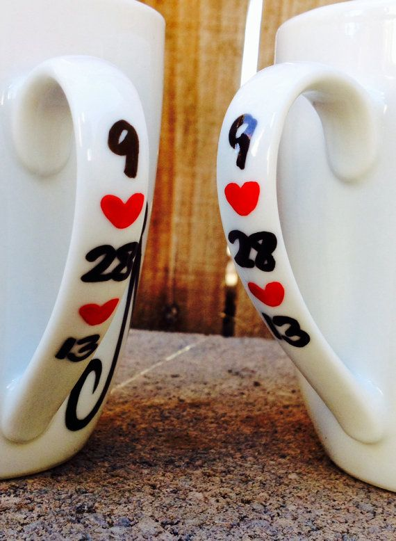 Mr. and Mrs. his and hers Coffee Mugs Couples by MakeLoveLive