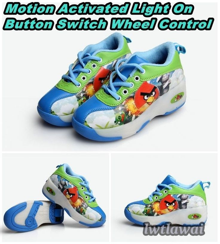 Kid Motion Light Up Leather Upper Switch Single Wheel Roller Skate Shoes Sneaker | eBay