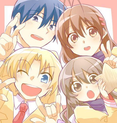Tomoya, Nagisa, Sunohara, Fuko #anime #clannad #manga