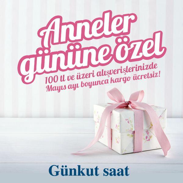 Anneler Günü Hediyesi için Karar Veremeyenlere Son Fırsat! Günkut Saat'te 100 TL ve üzeri alışverişlerinizde kargo ücretsiz!  http://www.gunkutsaat.com/