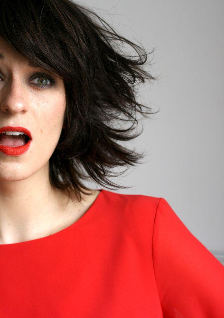 MAC Lady Danger lipstick / Zara dress