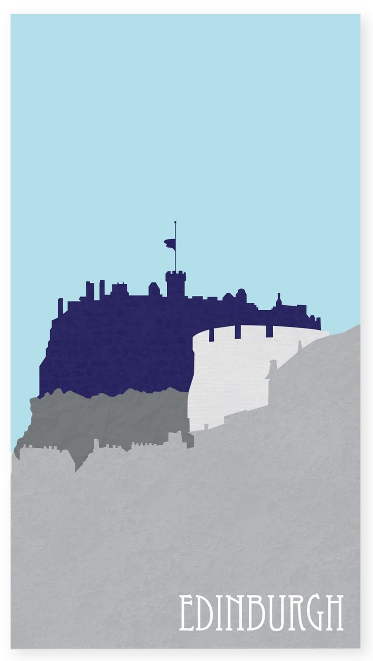 Edinburgh poster by Sarah Carter - Graphic Design