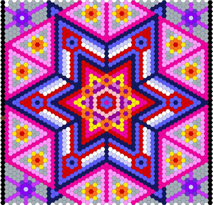 My EQ image of the Hexigon Quilt. Colors just give a vague idea - the fabrics are all Kaffe Fasset