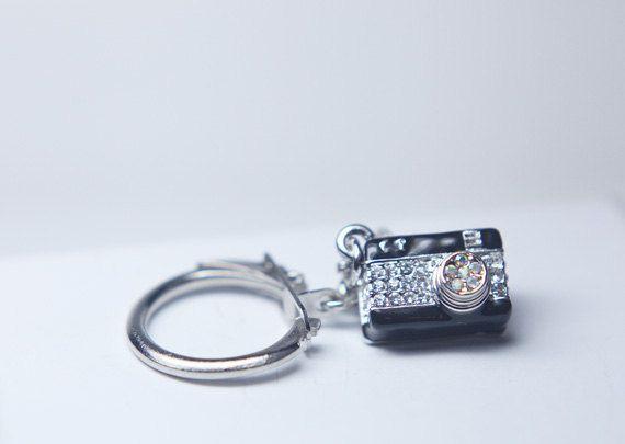 camera-keychain-camera-charm-bling