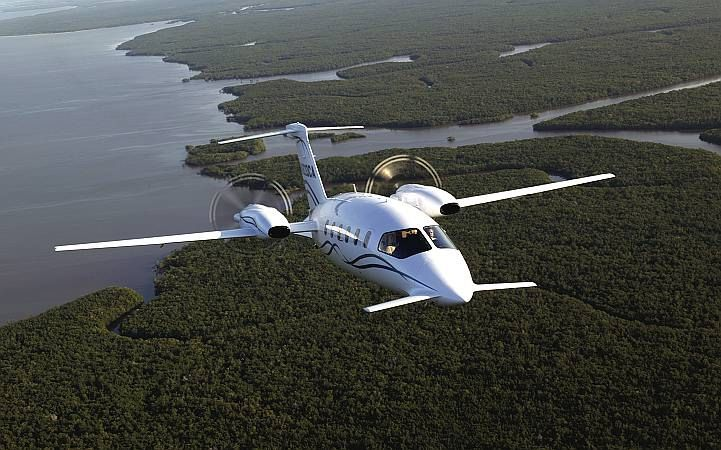 Piaggio-Avanti. What a beautiful airplane.