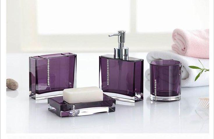 Purple Bathroom Accessories, Black And Purple Bathroom Sets